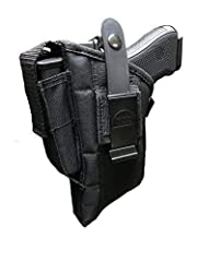 Pro-Tech holsters are Ambidextrous. Fits right or left hand. Comes with a magazine pouch for Has plastic adjustable spring action thumb break Inside has a vinyl vapor barrier to keep moisture off your gun Stitched with strong bonded nylon and double ...