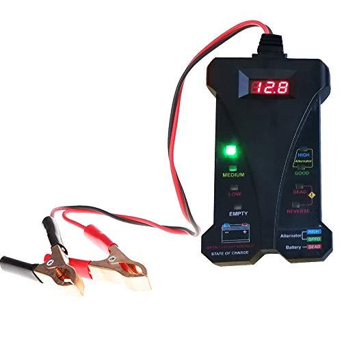 Cleanpower - Comprobador digital de batería de coche (12 V, sistema de carga, analizador, herramienta de diagnóstico)