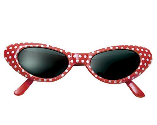 Desconocido My Other Me - Gafas años 50, talla única, color rojo (Viving Costumes MOM01565)