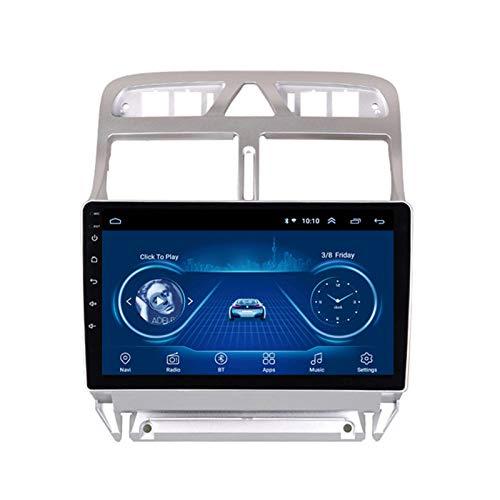 Android 10.0 Radio Stereo Coche 9 Pulgadas 2.5D HD Pantalla Táctil Navegación GPS Ser Aplicable Peugeot 307 (2002-2013) Apoyo Cámara De Visión Trasera/WIFI/Mirror Link/Mandos Volante/FM AM,1G+16G