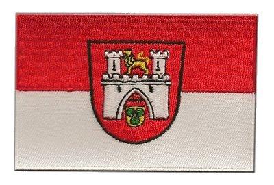 Aufnäher Patch Flagge Deutschland Stadt Hannover - 8 x 6 cm