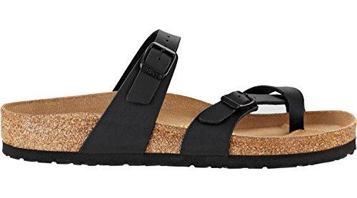 Birkenstock Schuhe Mayari Birko-Flor Normal Black (071791) 40 Schwarz