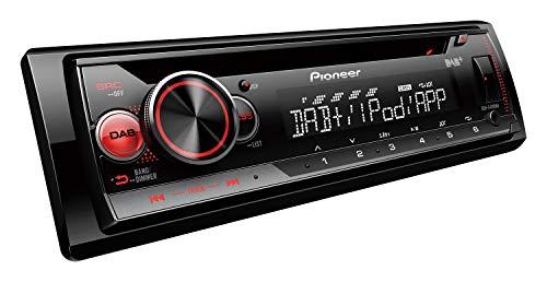 Pioneer DEH-S410DAB , 1DIN Autoradio , CD-Tuner mit FM und DAB+, MP3 , USB und AUX-Eingang , RGB – Beleuchtung , Smart Sync App , 5- Band Equalizer , Spotify