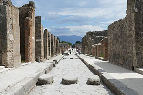 Wall Art Print on Canvas(32x21 inches)- Pompeii Italy Naples Antiquity Places of Interest 3