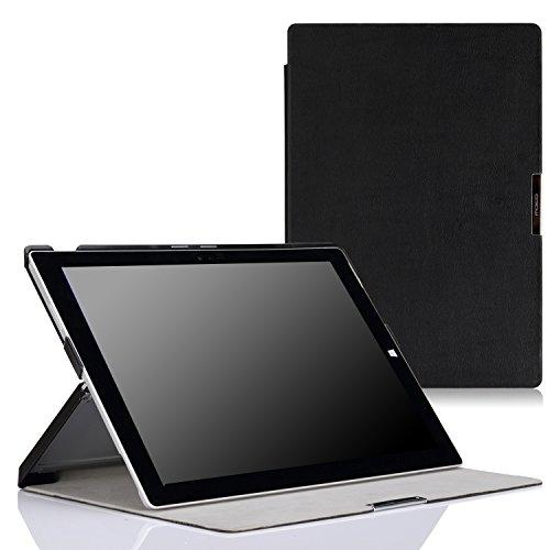 MoKo Microsoft Surface Pro 3 Case - Slim Lightweight Shell Stand Cover Case for Microsoft Surface Pro 3 12 Inch Tablet, Black