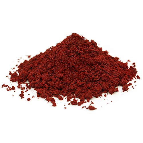 @tec Premium Pigmentpulver, Eisenoxid, Oxidfarbe - 1kg Farbpigmente/Trockenfarbe für Beton + Wand - Farbe: ziegelrot / rot / ziegel