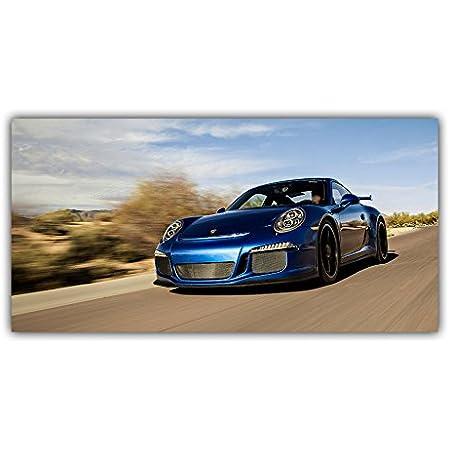 Porsche 911 Carrera Tableau Poster Plaque Photo Déco Noir Circuit Pilote Luxe