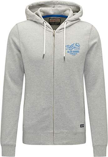 Petrol Herren Industries Sweatshirt Jacke M-FW18-SWH390- Grau (Light Grey Melee 9038) XXL