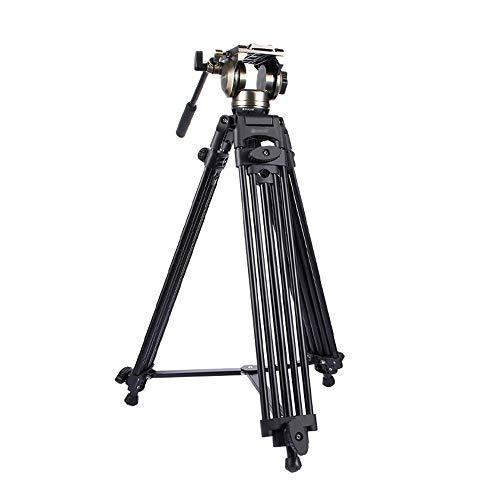 Jklt camerastatief 3 in 1 (statief + bowl adapter + zwarte vloeistof pull kop) Heavy Duty videocamera aluminium statief montageset voor DSLR/SLR camera schieten stabiliteit en veelzijdigheid