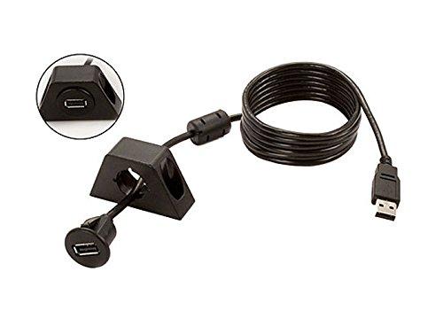 USB-inbouwbus, incl. opbouwbeugel kabellengte 1,8 m kleur: antraciet. Voor bijv. DENSION GATEWAY, XCarLink of DVD-speler