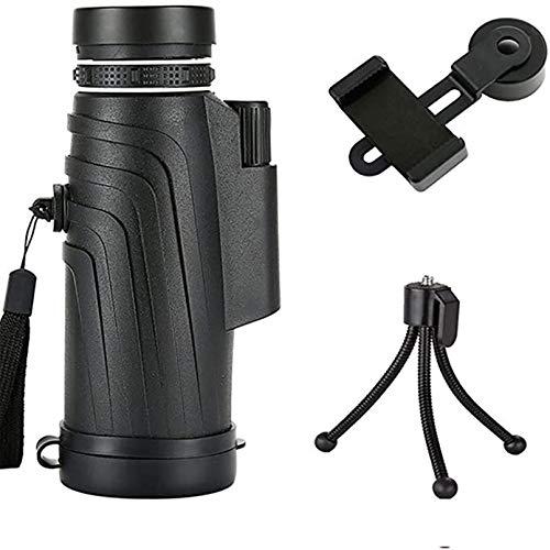 Monokular Teleskop monocular, 50X52 Fernrohr Für Wildtiere Vogelbeobachtung Camping Reisende mit Smartphone Adapter Stativ HD Multi-Coated Wasserdichtes BAK4 Prisma