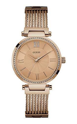 Guess Damen Analog Uhr Soho mit Edelstahl Armband