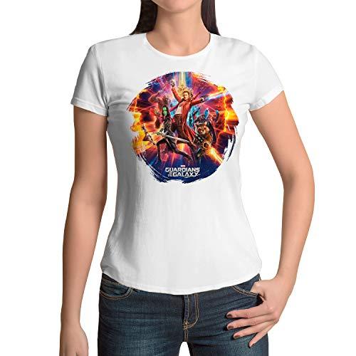 DibuNaif Camiseta Mujer Superhéroe, Guardianes de la Galaxia