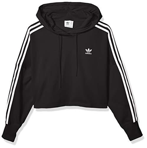 adidas Originals Damen Cropped Hooded Sweatshirt, schwarz, X-Large