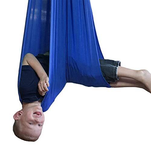 Hamaca Oscilante De Algodón para Niños Acurrucarse hasta La Terapia Sensorial Sensorial Silla De Asiento Colgante EstableCamping Senderismo (Color : Sapphire Blue, Size : 100x280cm/39x110in)