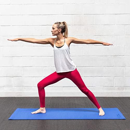 METIS Colchoneta Plegable de Gimnasia/Yoga – Esterilla Gruesa 180cm x 60cm para Pilates, Entrenamientos & Estiramientos