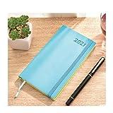 Yanyan Agenda A6 de tapa dura de 3,9 x 6,8 pulgadas, tendencia creativa con forro diario de viaje, diario de trabajo, hogar, regalo para estudiantes, diario (color: azul cielo)
