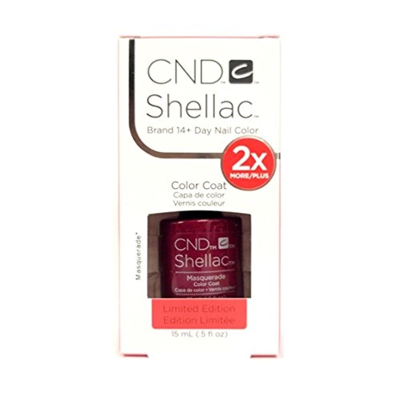 選出する爬虫類滑りやすいCND Shellac - Limited Edition! - Masquerade - 15ml/0.5oz