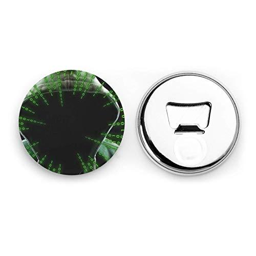 Hacker Attack Apribottiglie rotonde / Magneti per frigorifero Adesivo magnetico per cavatappi in acciaio inossidabile 2 pezzi