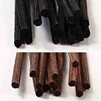 baobab(バオバブ) リードディフューザー用 リードスティック リフィル [ラタン スティック] 22㎝ 100本 (ブラック/ブラウン)