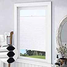 Keego Blackout Cellular Shades Top Down Bottom up, Custom Cut to Size Window Blinds, White, 24
