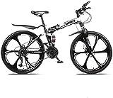YIHGJJYP Bicicleta De Montaña Las Bicicletas Plegable 26' 27 Velocidad suspensión Doble Freno Disco Completo Antideslizante Ligero Marco Horquillas,Set-5