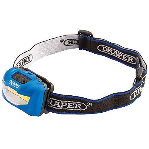 Draper 90071 3W COB LED Headlamp (3 x AAA Batteries) Lampe, Nylon/a