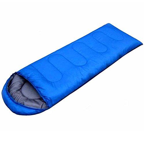 Generic Sac de Couchage enveloppe étanche Sac de Couchage Super Léger, Idéal pour Le Camping, la Randonnée et Activités de Plein air, Bleu