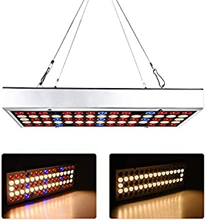 LED Grow Lights 25W, 75LEDs Panel Full Spectrum with Hanging Kit,LED Plant Lights for Greenhouse and Indoor, No Noise, Goo...