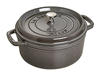 Staub 1102418 Cocotte Redonda, Hierro Fundido, Gris Grafito, 24 cm (B000TSL56G) | Amazon price tracker / tracking, Amazon price history charts, Amazon price watches, Amazon price drop alerts