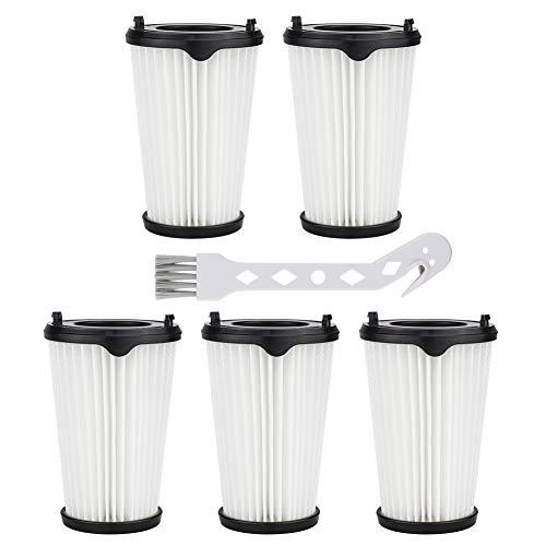 FHzytg 5 Stück Filter und 1 Stück Kleine Bürste für AEG CX7-2 Ergorapido Staubsauger, Artikelnummer AEF150, Hepa-Filter Ersatzfilter Austauschfilter für alle CX7-2 Modelle