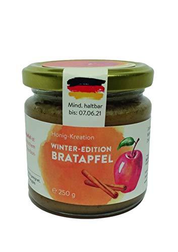 Winteredition: Bratapfel, Honig mit Apfel, Zimt und echter Bourbon Vanille, Weihnachtsgeschenk, 250g