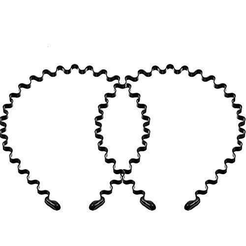 2 Paquetes Diadema Atrás Peinda, Diadema de Metal Negra de Moda, Diadema de Unisex, Diadema Antideslizante, Accesorios de Pelo Elásticos para Yoga Deportes al Aire Libre (Onda)