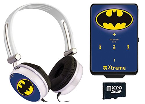Xtreme 27683 Cuffia Audio Batman, Connettore Jack 3,5 mm, Lettore File Audio, Cavo Mini USB e Memoria 8 GB