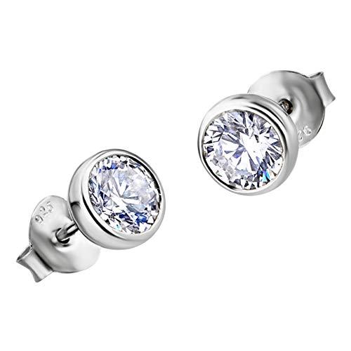 LOTUS JLP1272-4-1 - Pendientes de plata de ley 925 con circonitas para mujer