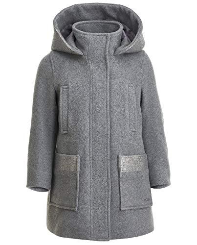 GULLIVER Mantel Mädchen Wollmantel Grau Übergangsjacke Mittellang mit Kapuze 3 6 Jahre 98 104 cm 110 116 cm