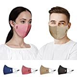 LIGHTWEIGHT, COMFORTABLE and BREATHABLE: Inner Fabric layer are made of 100% cotton giving a very soft touch to the skin, easy to wear for long hours. Unique premium linen looks are comfortable to wear in hot weather, dries faster. Mask is lightweigh...
