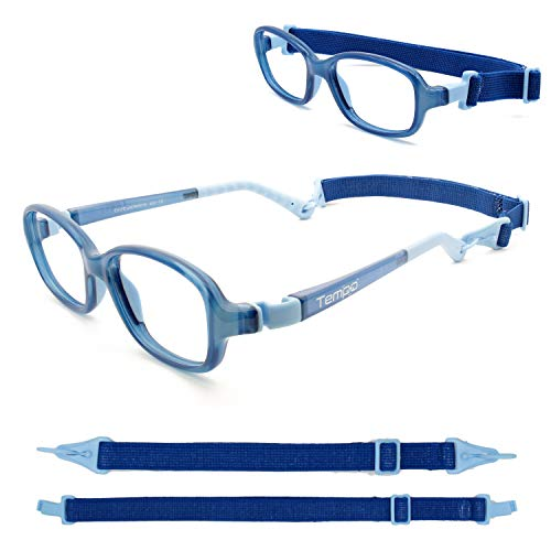 Tempo Ultra: 3006115 Unbreakable Kids Glasses with Headstrap Age 2-5Yr | Dark Blue