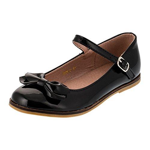 Dorémi Festliche Kinder Mädchen Ballerinas Schuhe für Partys und Freizeit in vielen Farben M297sw Schwarz Gr.25