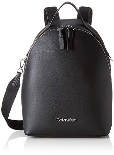 Calvin Klein Damen Strap Backpack Rucksack, Schwarz (Black), 15x38x27.5 cm
