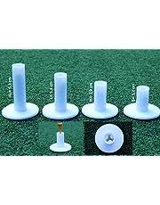 koenig-tom Golf Rubber Tees - Tees de goma para practicar golf, 4 unidades, color blanco
