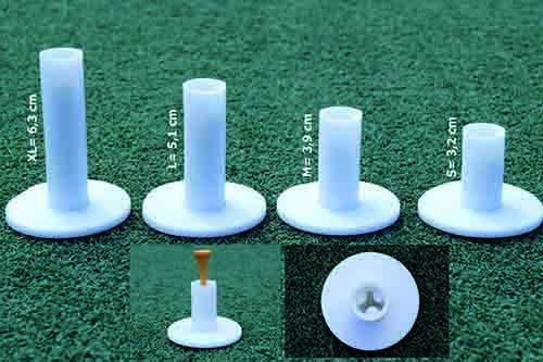 koenig-tom Golf Rubber Tees Gummi Übungs Tee Range Tee Winter Tee 4 Stück in weiß