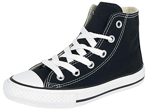 Converse Youths Chuck Taylor All Star Hi, Sneakers bassi Unisex Bambino, Black, 32 EU