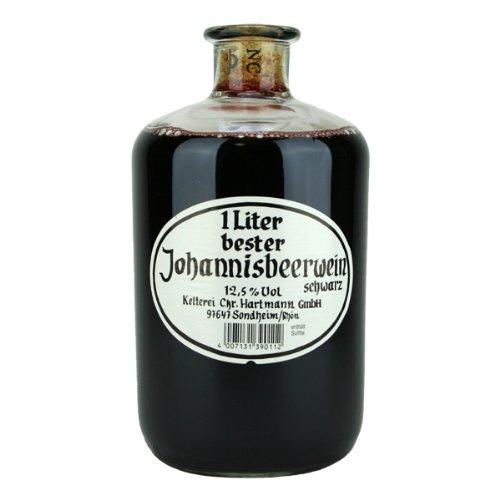 Christian Hartmann 1 Liter bester Johannisbeerwein schwarz
