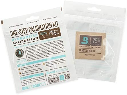 Boveda for Cigars   One-Step Calibration Kit   Preloaded with 75% RH 2-Way Humidity Control   Precise Salt Test for Digital and Analog Hygrometers and Humidity Sensors   1-Count