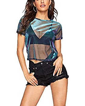 Best holographic mesh top Reviews
