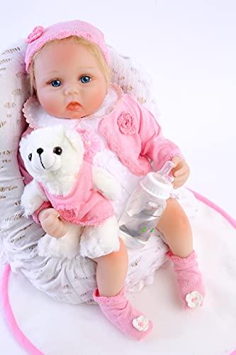 ZIYIUI DOLL Muñecos Bebé Reborn Niñas Realista Recién Nacido Silicona Suave 22 Inch 55cm