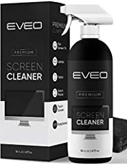 Your screen's new friend! - EVEO is proud to present a screen cleaner that's perfectly suited for your TV, laptop, iPad, Macbook, or any electronic device. Our Screen Cleaner, along with the included plush microfiber cloth, is safe, efficient, and la...
