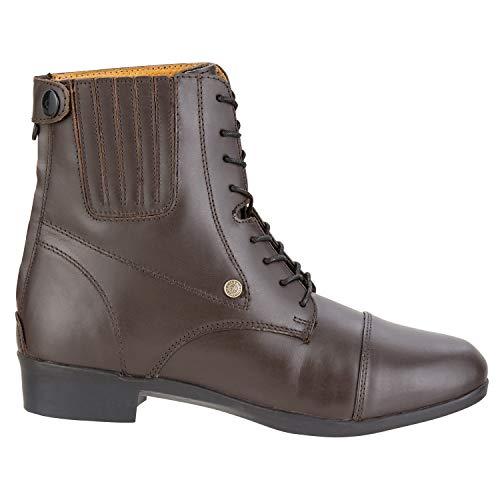 Stiefelette »OXFORD ADVANCED BZ LACE« mit Reißverschluss. Bequeme Boots | Echtleder | Robuster Reitschuh mit Gummisohle und Lederinnensohle | Stiefel Größen 35-45 Fallen kleiner aus | schwarz & braun