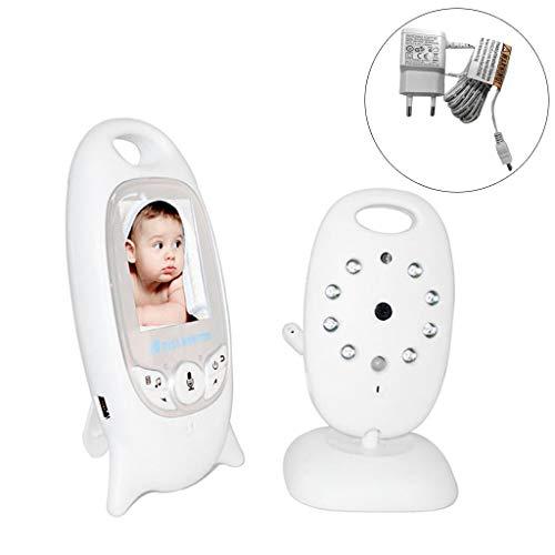 Mcbbigxw Babyphone Mit Kamera 2.0 Zoll LCD Display Baby Monitor Mit Gegensprechfunktion, Digital Dual, Schlafmodus, Nachtsicht, Temperatursensor, Schlaflieder